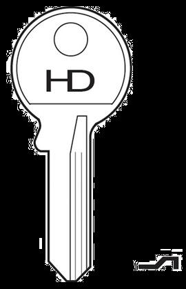 HD 104AS Key blank