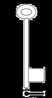 PIN LATCH 1/2 BIT KEY BLANK - 7G