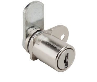 RONIS 32300 Single wing Pedestal Lock is supplied under the SM Master Key Series in a Bright Nickel Finish. Straight Cam