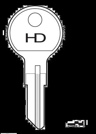 HD 41E Key blank