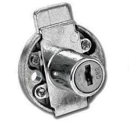 Lowe and Fletcher L&F 5872 Round Drawer Lock 19mm nozzle length -