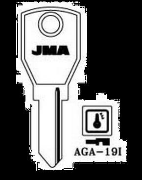 JMA AGA-19I Key Blank  to suit Aga, Dad & Jomalocks  Steel Key