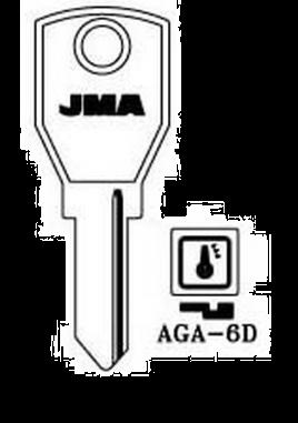 JMA AGA-6D Key Blank  to suit Aga, Dad & Jomalocks  Steel Key