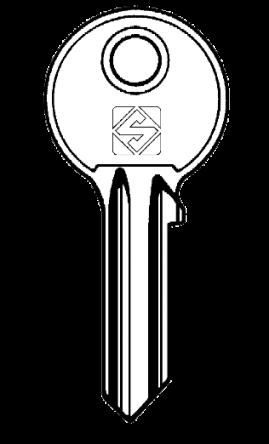 Silca AKR2 Key blank