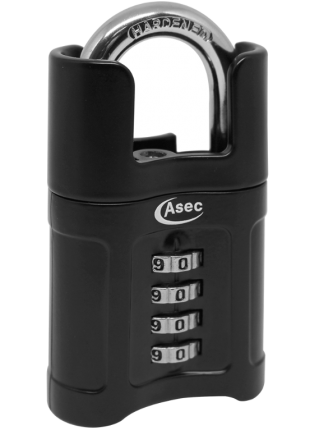 Asec 55mm Closed Shackle Combination Padlock