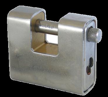 ASEC 80mm Keyed Alike Steel Sliding Shackle Padlock - AS11873