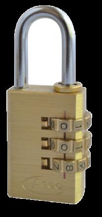 Asec Open Shackle Combination Padlock