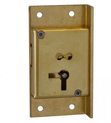 Asec 50mm 4 Lever Cut Cupboard Lock LH