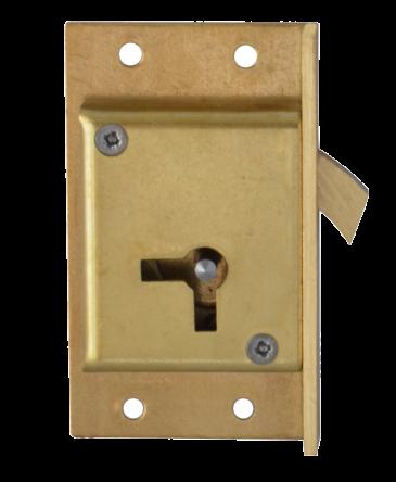 Asec 80 64mm 4 Lever  Hook Cut Cupboard Lock - RH
