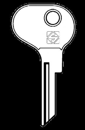 Silca BH4 Key blank