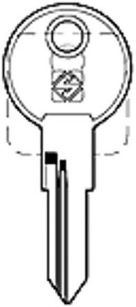Replacement BMB Germany B Series Keys  Codes B601 - B800  Usually found on office furniture  Master Key - BMB4B  Removal Key - BMBBRML  Image of key is for illustration