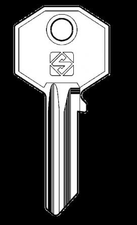 Silca BUR1 Key blank