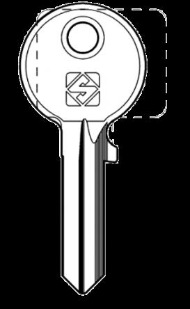 Silca BUR29 Key blank