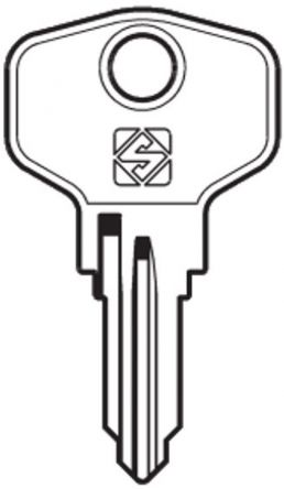 Silca BUR24R Key blank