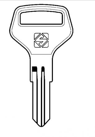 Silca CAX2R Key blank