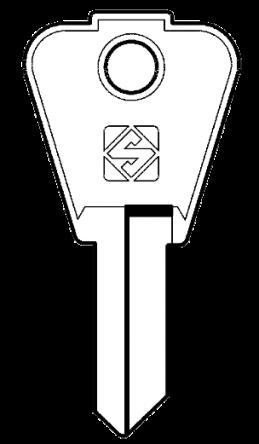 Silca CM2 Key Blank