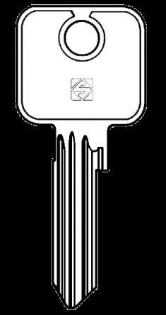 Silca CS17 Cylinder Key Blank  To suitCisa Locks.  Steel Key