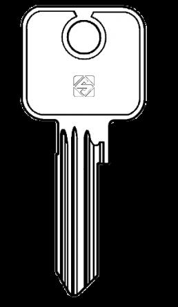 Silca CS17R Cylinder Key Blank  To suit Cisa Padocks.  Steel Key