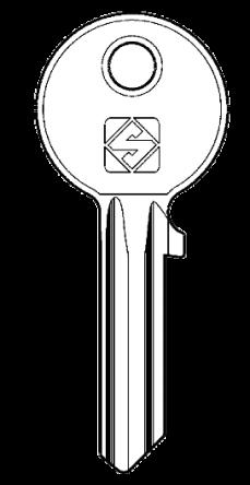 Silca CS7 Key Blank