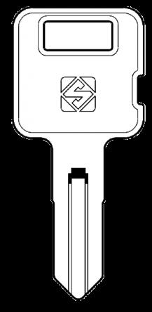 Silca CTR1R Key blank