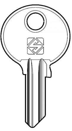 Replacement key for Dom series DC  Codes  (DC001 - DC1800)