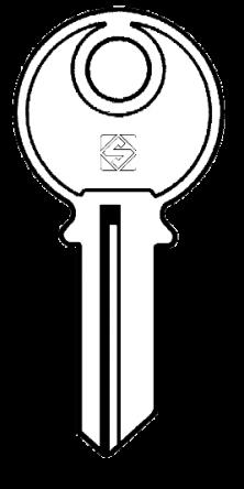 Silca DN1 Key blank