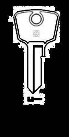 Silca DN8 Key blank