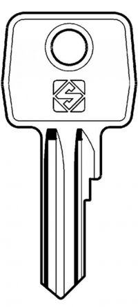 Replacement Legrand 2433A Key  2433A replacement keys operate Legrand key switches and locks. Also for Atlantic and Marina cabinets Manufacturers part number: 368 26 Image of key is for illustration