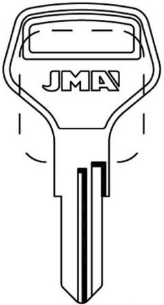 JMA EUB-2 Cylinder Key Blank