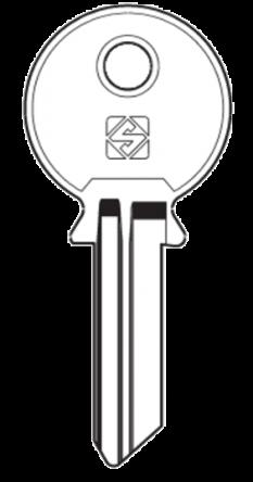 Silca FF17 Cylinder Key Blank  To suit F.F. Locks  Steel Key