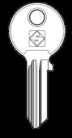 Silca FF2 Key blank