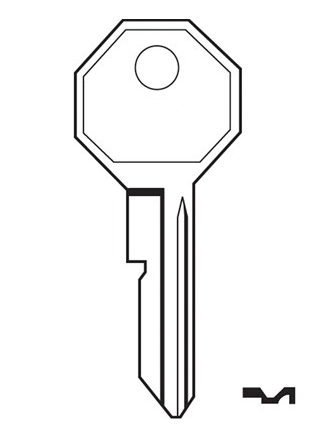 Ilco H1098M Key blank