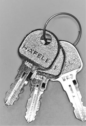 Hafele Master Key Set  Includes Master keys MK1, MK2& MK3  For Hafele key numbers 0001 – 3936