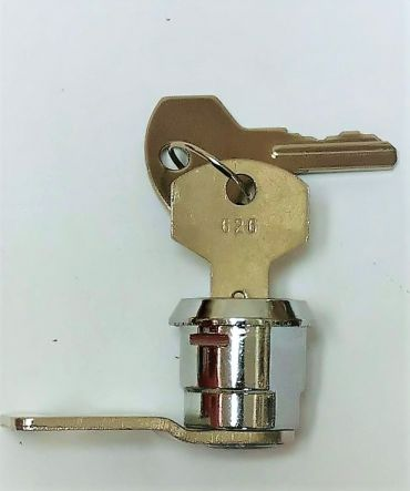 Helix 15mm Cranked Hook Cam lock  suitable for cash boxes, mail boxes & key safes