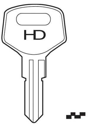 HD HLX1 Key Blank  to suit Helix, Evergood & Cash Box locks  Steel Key