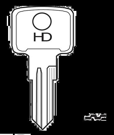 HD HLX2 Key blank