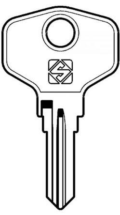 Silca HPP1R Key blank