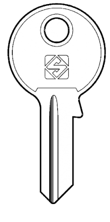 Silca JC1 Key blank