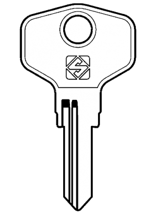 Silca JU13R Key blank