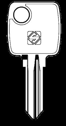 Silca KI17 Key blank