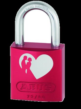 Abus 72/40 Red Love Locks Padlocks