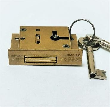 Legge 50mm3 Lever Brass Cupboard & Cabinet Lock  Great for wooden cupboards and drawers.