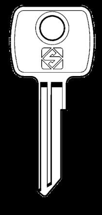 Silca LF11 Key blank