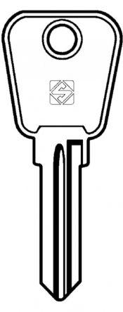 Silca LF19R Key blank