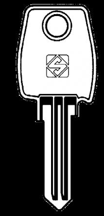 Silca LF2 5 pin cylinder key blank  To suit Lowe & Fletcher, Asec, Baton,Eurolocks & Helsman locks  Steel Key