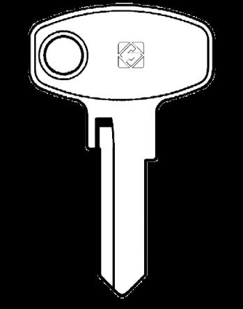 Silca LF28R 5 pin cylinder key blank  To suit Lowe & Fletcher & Eurolocks locks  Steel Key