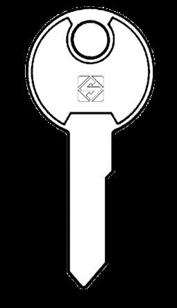 Silca LF29R Key blank