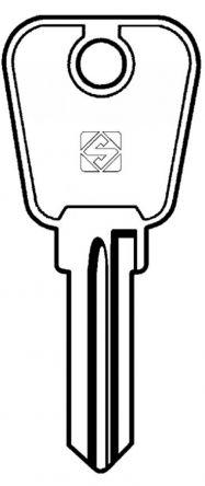 Silca LF36 6 pin cylinder key blank  To suit Lowe & Fletcher &  Eurolock locks  Steel Key