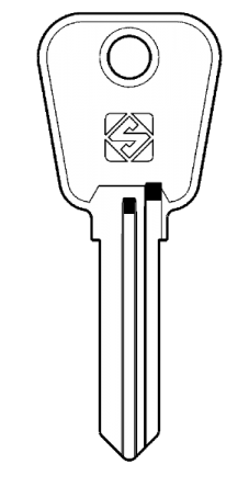 Silca LF56 Key blank