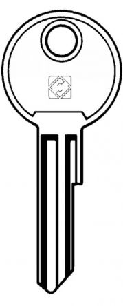 Replacement Knoll FK300 Cylinder Removal Key Also known as a Control Key For lock codes 300 - 500